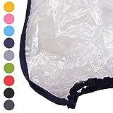 BAMBINIWELT Regenschutz, Regenhaube für Kinderfahrradsitze, Wetterschutz für Fahrrad-Kindersitze (dunkelblau)