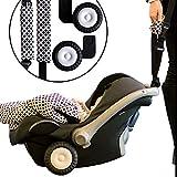 Rollersy Baby Adapter Räder Für Babyschale Kinderautositze Made in EU, Rosa