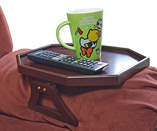 Cherry Zwei Stuhl (UTRAX Holz Sofa Armlehne Clip On Snack Tisch Holz Stuhl Armlehne Tablett Organizer Romote Caddy Cherry)