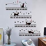 LETAMG Wandsticker Auf Dem Klavier Musik Wandaufkleber Für Kinderzimmer Schlafzimmer Kunst Hintergrund Sockelleiste PVC Sockelleiste Decor