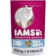 Iams Cat Food ProActive Health Mature and Senior With Wild Ocean Fish and Chicken 300 g - Pack of 6