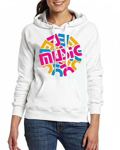 A music circle Womens Hoodie Fleece Custom Sweartshirts white