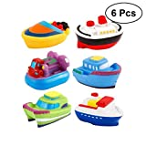 TOYMYTOY Giocattoli da bagno 6 pezzi BPA Free Ship Floating Bath Squirters - Giocattoli da bagno Summer Water Toys for Kids/Toddler/Baby