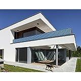 Balkon Sichtschutz Blau Weiß 500x90 Balkonsichtschutz Balkonumrandung Balkonverkleidung Windschutz