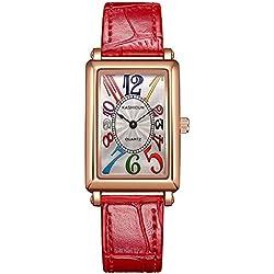 Women's square watch/Quartz watches waterproof watch/ vintage casual watch-C