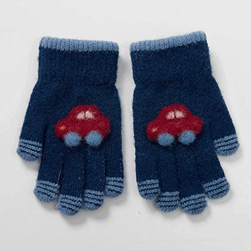 SPRRC Guanti for Bambini Automobile di Inverno del Fumetto 5-8 Anni Old Boy Girl Child Bambini Guanti Autunno e l'inverno Lana Calda Five Fingers Guanti di Sport Esterni Guanti Caldi (Color : 02)