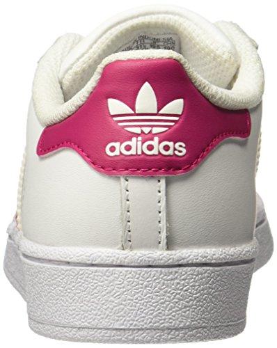 promo code 85a24 1d4de adidas Superstar, Scarpe da Basket Unisex-Bambini, Bianco Bold  Pink Footwear White, 34 EU