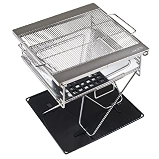 AceCamp Charcoal Grill Portable Folding Grill Folding Grill Camping Grill Garden Party BBQ Stainless Steel Grill, LARGE 1604