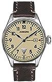Junkers Herren-Armbanduhr Analog Automatik One Size, beige/Creme, schwarz