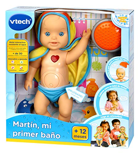 VTech Martin My First Bath, Bath Doll, 33 cm (197422)