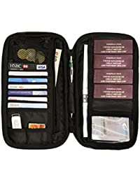 Family Travel Wallet Passport Holder Document Organiser RFID Secured Holiday Money Bag Pouch with Free Luggage Belt/Strap