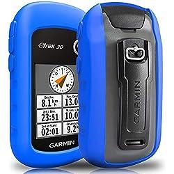 TUSITA Funda para Garmin eTrex 10 20 20X 30 30X - Funda Protectora de Silicona Skin - Accesorios de Mano GPS Navigator (Azul)
