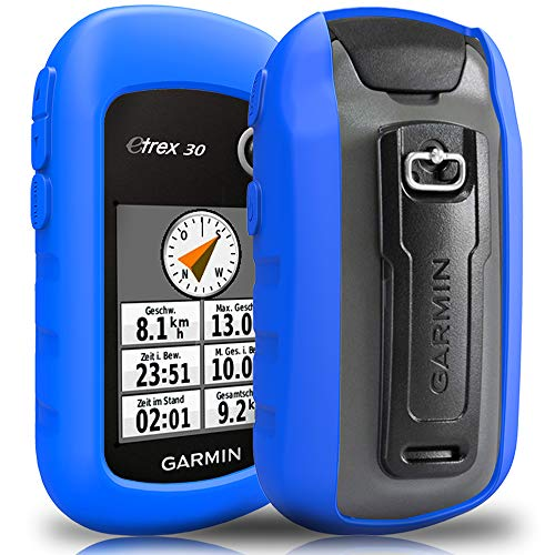 TUSITA hülle für Garmin eTrex 10 20 20X 22X 30 30X 32X - Silikon Schutzhülle Skin - Handheld GPS Navigator Zubehör Etrex Fall