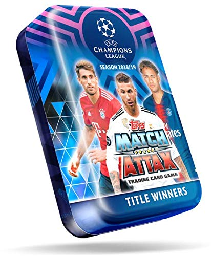 Match Attax Weihnachtskalender.Topps Uefa Champions League Match Attax Cards 2018 19 Mega Tin With 50 Cards