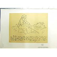Copie de Couleur Antique du Breton 1914 d'Une Gardeuse Dindons Jules