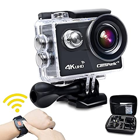 Sports Camera,Campark ACT73R 4K Camera 170° Wide Angle 16MP WIFI Underwater Camera Camcorder Remote Control for Bike Motorcycle Surfing Diving Swimming Skiing etc