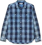 find. Blue Checked, Camicia Uomo, Blu (Indigo Check), Medium
