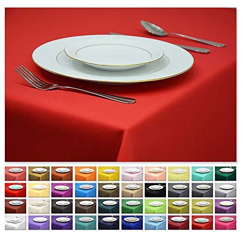 Rollmayer Tischdecke Tischtuch Tischläufer Tischwäsche Gastronomie Kollektion Vivid (Rot 12, 40x40cm) Uni einfarbig...