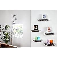 Preisvergleich für Invicta Interior Modernes Wandregal TEAR organisches Design aus Aluminium 40x20 cm
