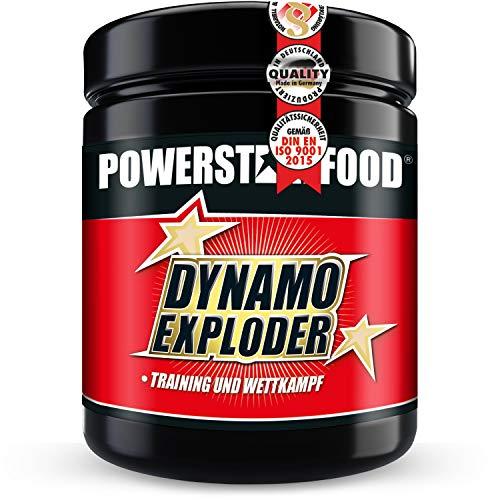 DYNAMO EXPLODER - Premium Fitnessbooster für mehr Kraft, Fokus und Wachheit mit Koffein, Guarana, Taurin, Magnesium, Vitaminen & unserer Spezialmatrix - Kirsch Geschmack - 500g - MADE IN GERMANY