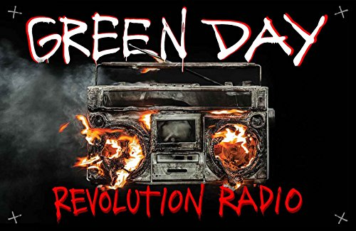 Green Day Poster Revolution Radio Band Logo Nue offiziell Textile 70cm x - Hat Green Day