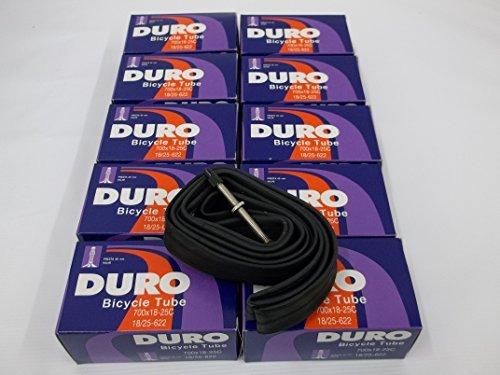 10 Tubes ** 700 x 18-25C Road / Fixie bike Inner tubes 60 mm Presta Valve 60MM by Duro (Tube Fixie-bike Inner)