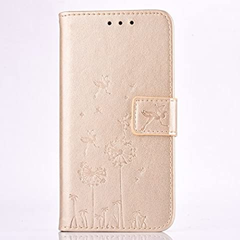 Lenovo A1000 Case, BONROY® Lenovo A1000 Dandelion couple series PU Leather Phone Holster Case, Flip Folio Book Case, Wallet Cover with Stand Function, Card Slots Money Pouch Protective Leather Wallet Case for Lenovo A1000