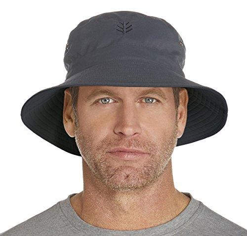 Coolibar uomo UPF 50+ Cappello per la Protezione solare UV per le sfide di Golf, Uomo, UPF 50 Plus, Carbon/Black, L, 52-54 (EU), 42-44 (UK)