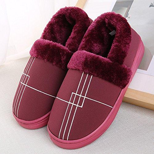 YMFIE Les hommes dhiver chers amants coton chaussons chaussures chaudes B