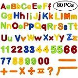 Tacobear Magnetische Buchstaben und Zahlen ABC Alphabet Magnete Nummer Spielzeug Lernspielzeug für Kinder Geschenk Set 80 Stücke