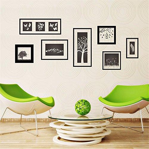 XJKLFJSIU Handbemalte Bilderrahmen Aufkleber Wand Wohnzimmer Schlafzimmer Esszimmer Abstrakte Wandkunst Aufkleber, 150 * 65Cm (Bilderrahmen Wachstum Chart)