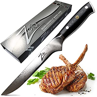 ZELITE INFINITY Boning Knife 6 Inch - Alpha-Royal Series - Best Quality Japanese AUS10 Super Steel 67 Layer High Carbon Stainless Steel -Razor Sharp Superb Edge Retention, Stain & Corrosion Resistant