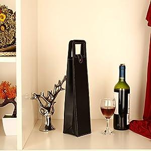 TOPmountain moda de lujo Cuero Bolsas de vino Sostenedor de botella vino Embalaje para el vino tinto bolsa de regalo Multi fuente del banquete de Colores