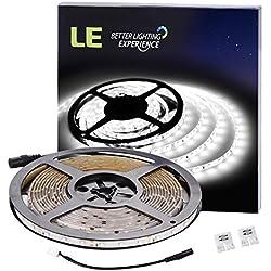 LE Tira LED Resistente al agua 5m 300 LED Blanco frío 300lm/m para bares, discotecas, muebles, etc.