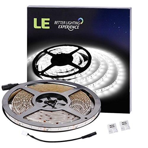 Preisvergleich Produktbild LE LED Streifen,  IP65 wasserfest,  Lichterkette,  300 Stücke 3528 LEDs,  5m 12V,  LED Lichtband,  LED Lichtleisten,  LED Band,  LED Leisten,  6000 Kelvin,  Kaltweiß