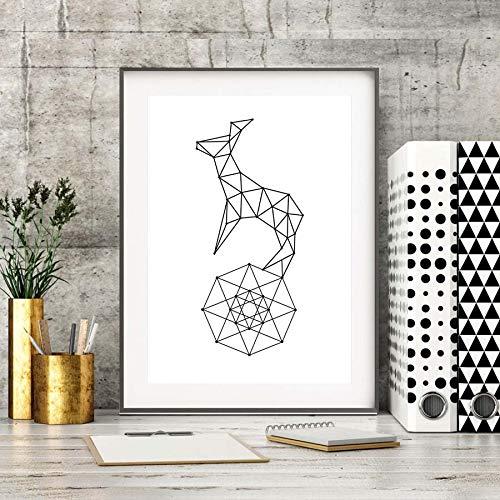 yuandp Nordische Art-Geometrie-Diagramm-Segeltuch-Malerei, abstrakte Muster-dekorative Plakat-Segeltuch-Kunst, Moderne Inneneinrichtung kein Frame50 * 40cm