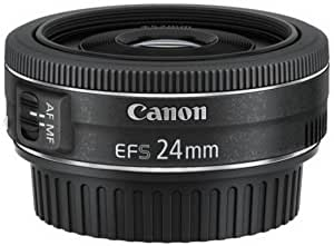 Canon Ef S 24 Mm 1 2 8 Stm Lens Black Camera Photo