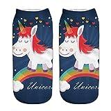 Colorfulwrold-Unicorn-Chaussettes-enfants-Chaussettes-Filles-Cartoon-Chaussettes-Chaussettes-Mignon-bas-licornes-Bund