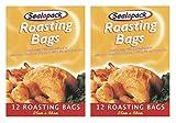 24x Sealapack Bolsas para asar Turquía carne de pollo (cocina al vapor para horno 25x 38cm