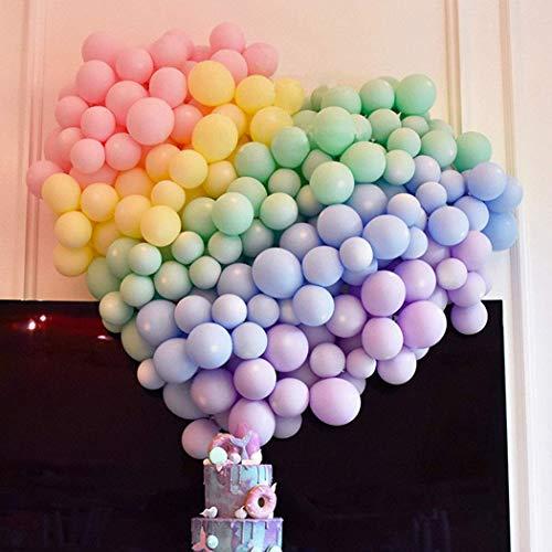Erosion 5 Zoll Mini Pastell Latexballons 200 Stück Verschiedene Macaron Bonbonfarbenen Latex Party Ballons für Hochzeit Geburtstag Baby Shower Party Decor Supplies