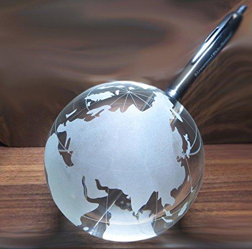 Kaltner Präsente Siftehalter - Ein ganz besonderes Geschenk: Weltkugel Globus aus Glas 10 cm...