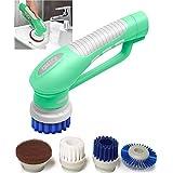 Scrubber Bürste für Küche & Badezimmer Elektrische Hand Reinigungsbürste Mit Bürstenaufsätzen Wasserdicht IPX7 Akku betrieb