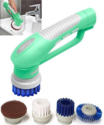 Preisvergleich Produktbild Scrubber Bürste für Küche & Badezimmer Elektrische Hand Reinigungsbürste Mit Bürstenaufsätzen Wasserdicht IPX7 Akku betrieb
