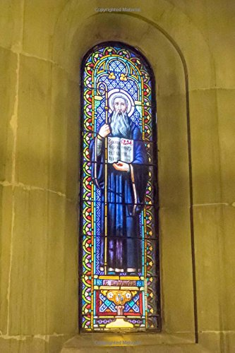 Stained Glass Window at Montserrat Journal: 150 Page Lined Notebook/Diary (Ati-windows-laptops)
