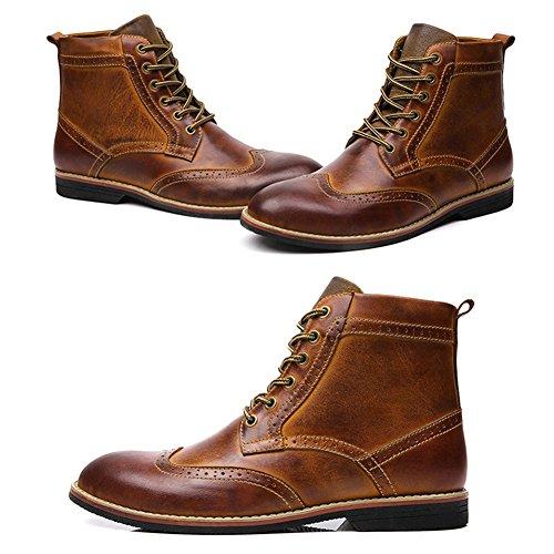 QIANGDA Uomini Casuali Stivali Scarpe Inverno Stivali Caldi Taglia Larga , 3 Colori Opzionale ( Colore : Marrone , dimensioni : EU38 = UK5.5 ) Brown thicken