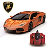 Lamborghini Aventador Official Licensed Remote Control Car for Kids with Working Lights, Radio