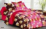 rivaz DOUBLE BEDSHEET with pillow covers (COTTON) QUEEN 150 TC - Feelings 1526 PINK