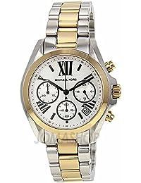 384ed474cf787 Michael Kors Michael Kors Bradshaw Cronógrafo Plata Dial Bicolor Damas Reloj  MK5912