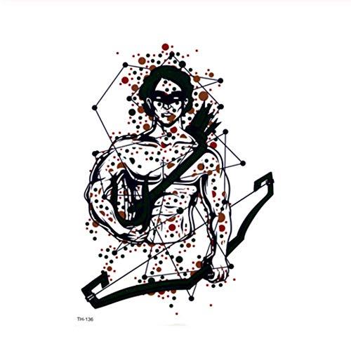ruofengpuzi Wasserdichtes Römischer Soldat Temporäre Tätowierung Mann Tattoo Flash Role Playing Charakter Temporäre Tätowierung Sleeves (Weibliche Soldat Kostüm)