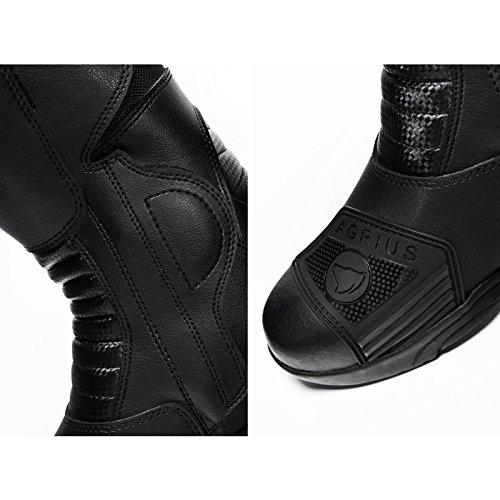 Agrius Bravo Motorcycle Boots 43 Black (UK 9) - 7